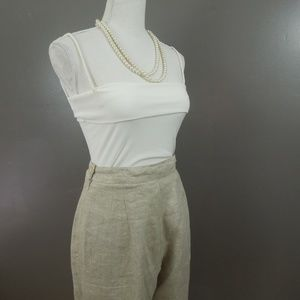 Vintage High Waist Linen Pants